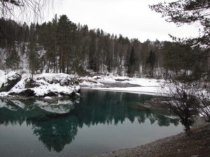 голубое озеро алтай